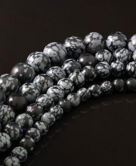 Obsidiano karoliukai 6mm 62vnt KA132