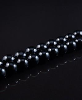 Natūralūs juodo turmalino akmems karoliukai 12mm 34vnt KA176