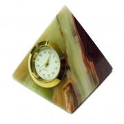 Piramidė iš onikso su laikrodžiu SU016